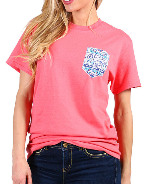 "Cherished Girl Women's ""Redeemer"" Tee, Coral, hi-res"