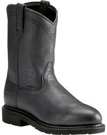 Ariat Sierra Men's Black Work Boots - Steel Toe, Dark Brown, hi-res