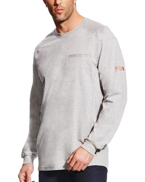 Ariat Men's FR Air Crew Long Sleeve Shirt, Grey, hi-res