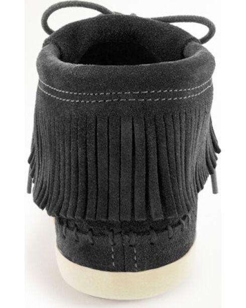 Minnetonka Women's Venice Lace-Up Moccasins, Black, hi-res