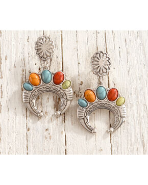 Shyanne Fiesta Squash Blossom Earrings, Multi, hi-res