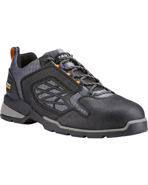 Ariat Men's Black Rebar Flex Work Shoes - Composite Toe , Black, hi-res