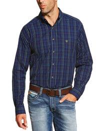 Ariat Men's Peacoat Navy Brennan Shirt - Big and Tall, , hi-res