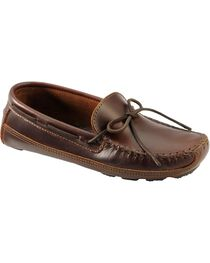 Men's Minnetonka Double Bottom Cowhide Driving Moccasins, , hi-res