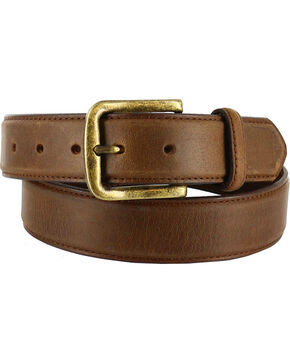 Cody James® Men's Classic Genuine Leather Belt, Tan, hi-res