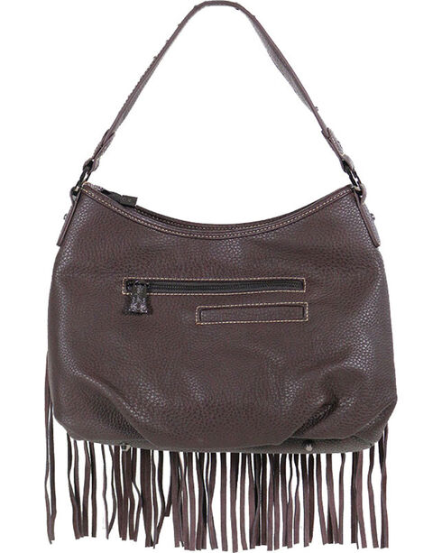 Montana West Women's Trinity Ranch Fringe Handbag, Taupe, hi-res