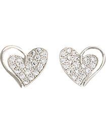 Montana Silversmiths Women's Heart Print Earrings , , hi-res