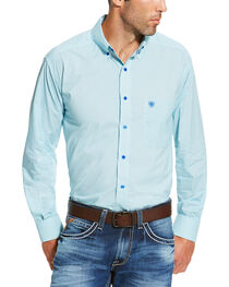 Ariat Men's Solid Button Down Long Sleeve Shirt, , hi-res