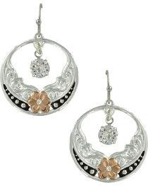 Montana Silversmiths Women's Evening Star's Wild Rose Earrings, , hi-res