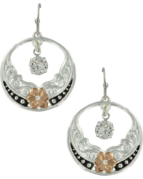 Montana Silversmiths Women's Evening Star's Wild Rose Earrings, No Color, hi-res