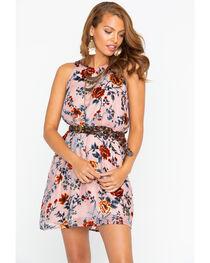 Miss Me Women's Pink Electric Boom Floral Dress , , hi-res