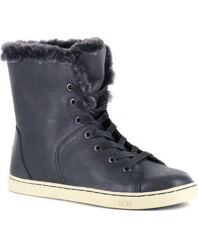 UGG Women's Black Croft Luxe Quilt Shoes , Black, hi-res