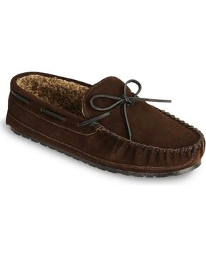 Minnetonka Casey Slipper Moccasins, Chocolate, hi-res