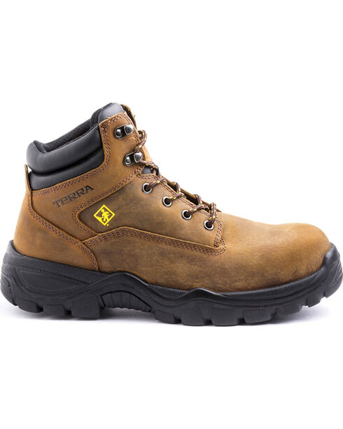 "Terra Men's Grafton 6"" Work Boots - Composite Toe, Brown, hi-res"