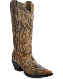Corral Women's Distressed Embroidered Western Boots, , hi-res
