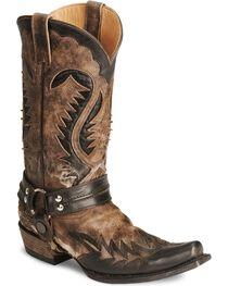 Stetson Men's Bleached Harness Boots, , hi-res