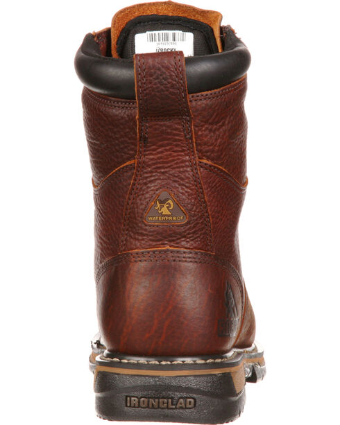 "Rocky Men's IronClad 8"" Work Boot, Brown, hi-res"