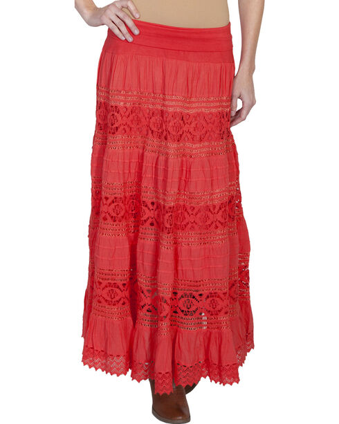 Scully Women's Yoga Knit Skirt, Coral, hi-res