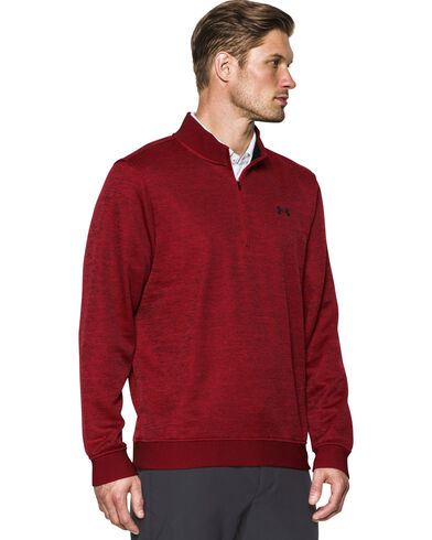 Under Armour Men's Red Storm Sweater Fleece 1/4 Zip Pullover ...