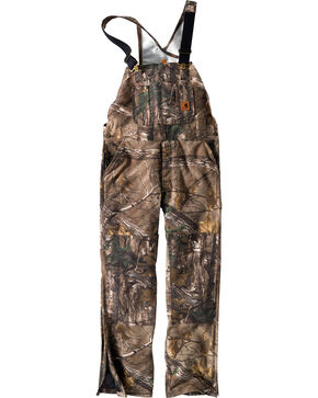 Carhartt Men's Quilt-Lined Camo Bib Overalls - Tall, Camouflage, hi-res