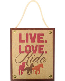 BB Ranch Live Love Ride Wall Deocr, , hi-res
