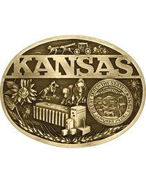 Montana Silversmiths Kansas Heritage State Buckle, , hi-res