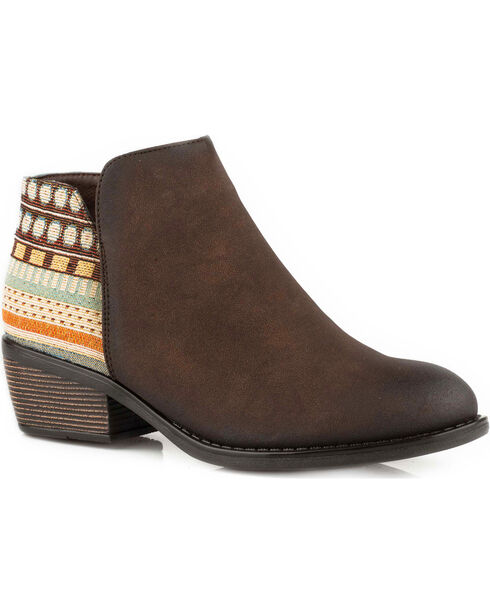 Roper Women's Brown Angel Fire Western Boots - Round Toe, , hi-res