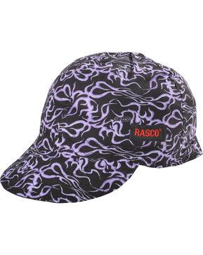 Rasco Men's Purple Floral Non-FR Welding Cap , Black/purple, hi-res