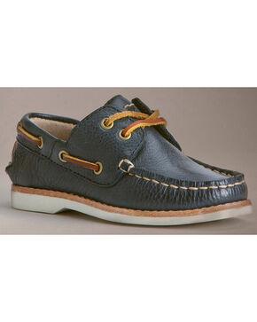 Frye Boys' Sully Boat Shoes, Blue, hi-res