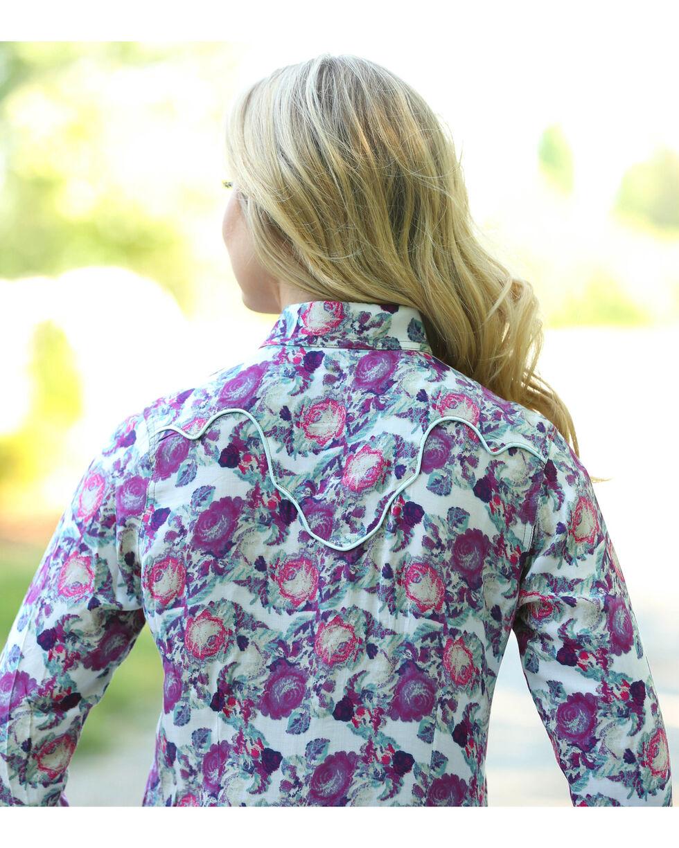 Wrangler Women's Cream Fancy Yoke Print Shirt , , hi-res