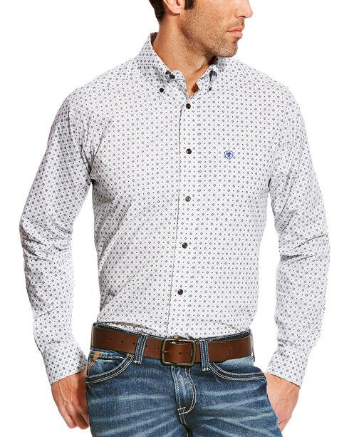 Ariat Men's Burton Fitted Poplin Print Button Down Shirt, Multi, hi-res