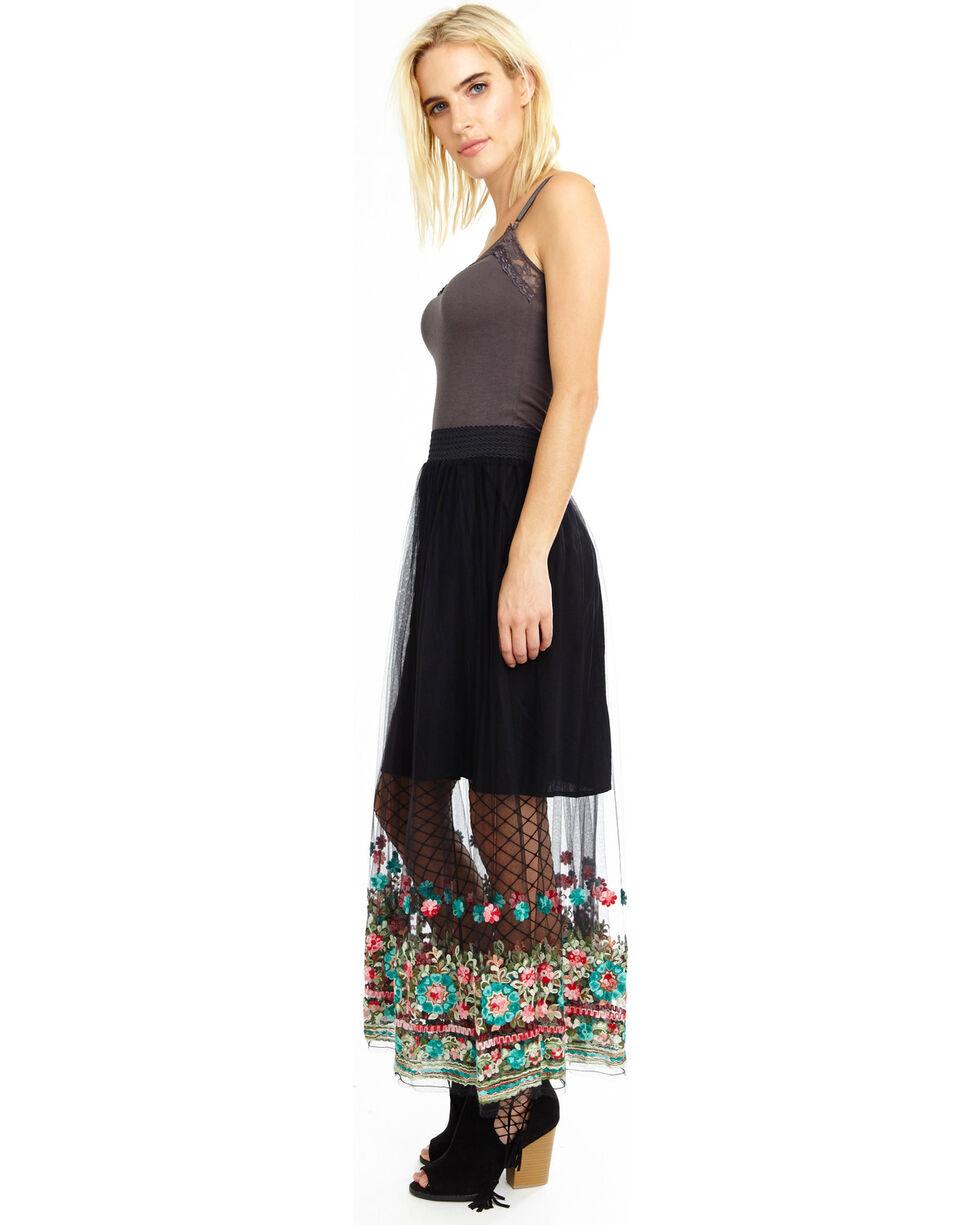 Aratta Women's Black Dancing Around Maxi Skirt , Black, hi-res