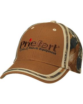 Priefert Logo Embroidered Camo Cap, Brown, hi-res