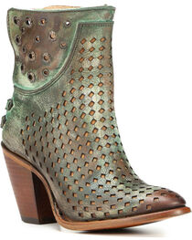 Corral Women's Laser-Cut Ankle Western Boots, , hi-res