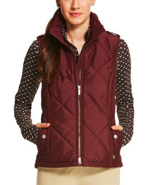 Ariat Women's Diamond Quilted Terrace Vest, , hi-res