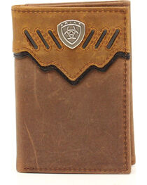 Ariat Trifold Shield Concho Tab Wallet, , hi-res