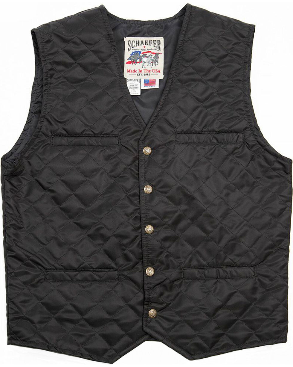 Schaefer Outfitter Men's Black Canyon Vest , Black, hi-res