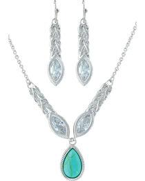 Montana Silversmiths Women's Silver Woven Light Jewelry Set , , hi-res