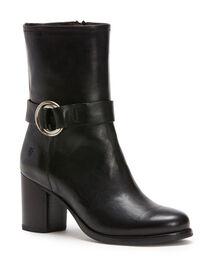 Frye Women's Black Addie Harness Mid Boots - Round Toe , , hi-res
