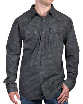 Moonshine Spirit® Men's Diamond Ranch Long Sleeve Shirt, Black, hi-res