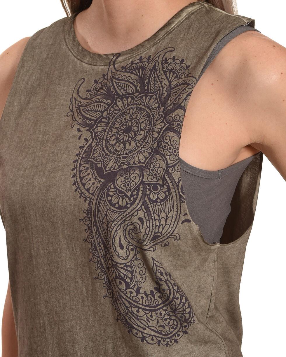 Others Follow Women's Sage Henna Floral Tank Top , Sage, hi-res