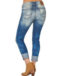 Silver Women's Girlfriend Cropped Skinny Jeans, , hi-res