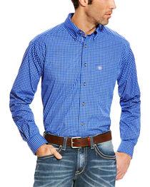 Ariat Men's Blue Pro Series Barado Plaid Western Shirt , , hi-res