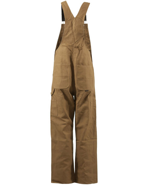 Berne Men's Original Unlined Duck Bib Overalls - ShortX, Brown, hi-res