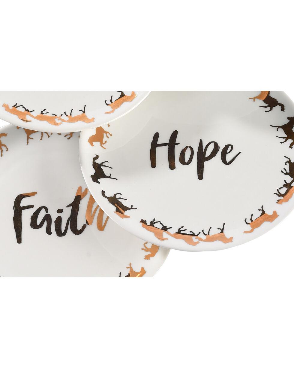 BB Ranch Faith, Hope, Love, Joy Gold Appetizer Plates, Gold, hi-res