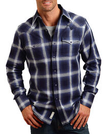 Stetson Men's Royal Plaid Long Sleeve Shirt , , hi-res