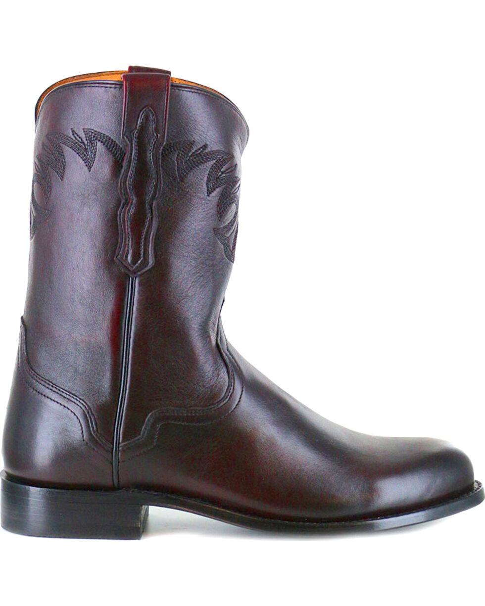 El Dorado Men's Round Toe Western Boots, Black Cherry, hi-res