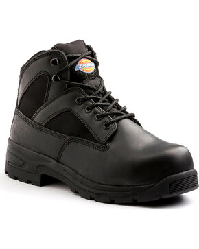 "Dickies Men's Black 6"" Buffer Work Boots - Steel Toe , Black, hi-res"