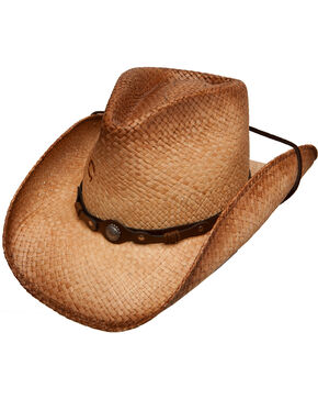 Charlie 1 Horse Women's Hot Shot Straw Cowboy Hat, Tea, hi-res