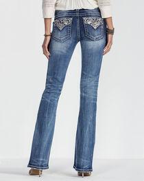 Miss Me Women's Embellished Pocket Boot Cut Jeans, , hi-res